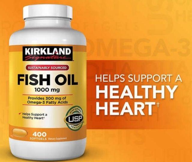 Dầu cá Kirkland Signature Fish oil cung cấp nguồn Omega 3 dồi dào