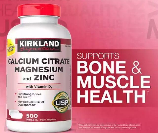 Kirkland Calcium Citrate Magnesium and Zinc