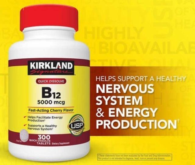 Viên uống bổ sung vitamin B12 Kirkland