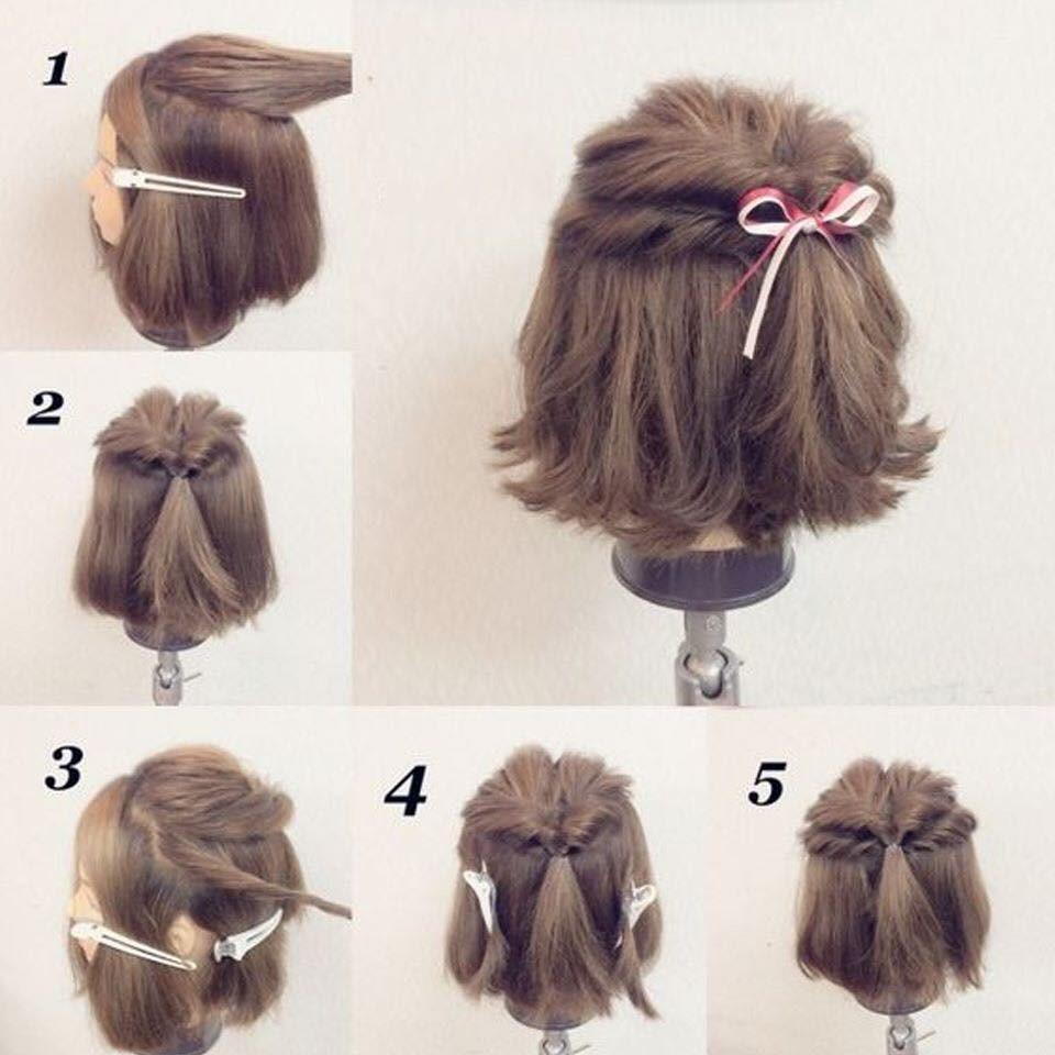 Kiểu tóc tết ngắn đơn giản nhưng không kém phần lung linh, sang trọng