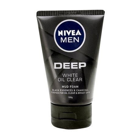 Sữa rửa mặt Nivea men deep white oil clear