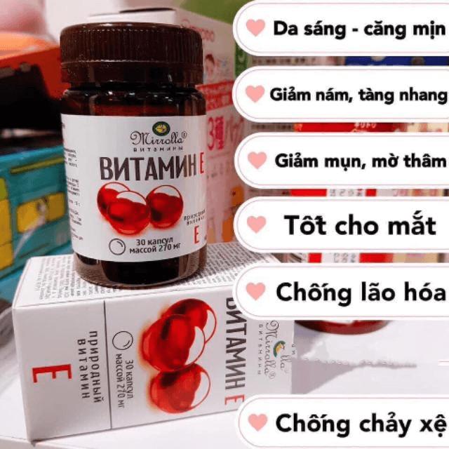 Tác dụng của vitamin E đỏ đối với sức khỏe và làm đẹp