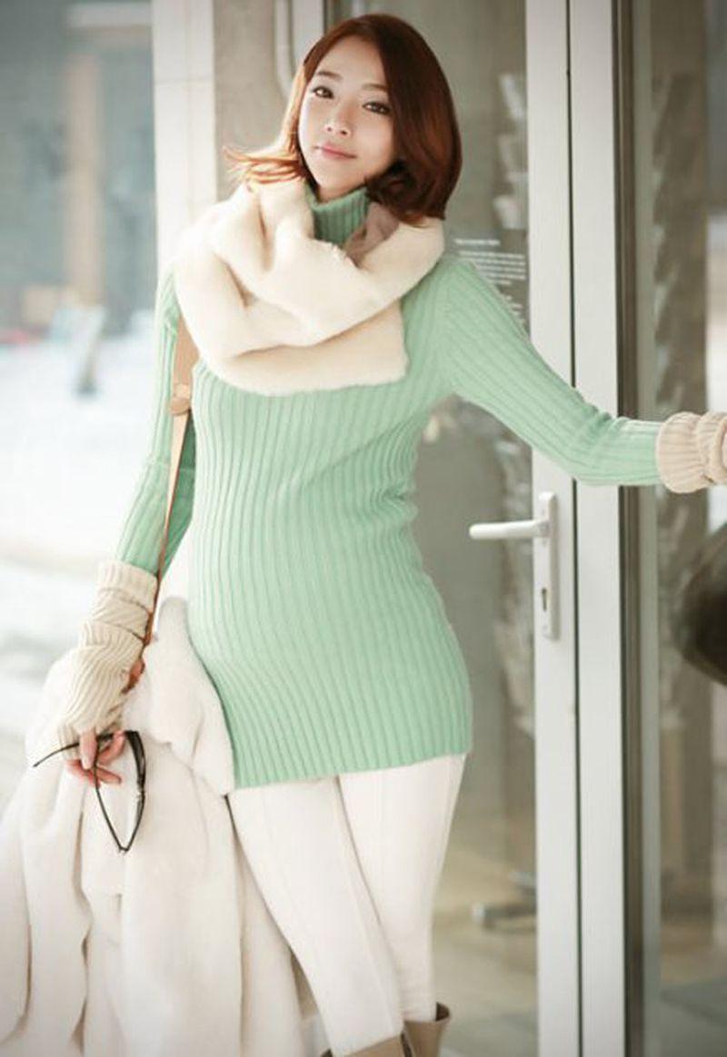 Thời trang cho bà bầu vào mùa đông.